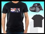 KOOLART CLASSIC BRITISH Design for Retro Classic Mini Clubman 1275GT mens or ladyfit t-shirt